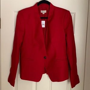 Red LOFT Blazer, Size 10 (New, with tags)